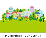 fun town of illustrations | Shutterstock .eps vector #397615474
