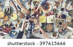 friends happiness enjoying... | Shutterstock . vector #397615666