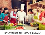 cooking class  culinary  food...   Shutterstock . vector #397616620