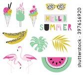 Summer Icon Set. Vector...