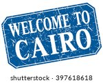 welcome to cairo blue square... | Shutterstock .eps vector #397618618