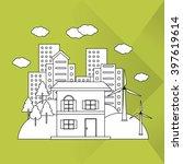 save energy icon design  vector ... | Shutterstock .eps vector #397619614