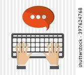 sms icon design  vector... | Shutterstock .eps vector #397624768