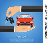 rent concept for poster  web... | Shutterstock .eps vector #397625989
