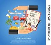 travel insurance concept for... | Shutterstock .eps vector #397626028