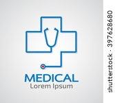 medical pharmacy logo design... | Shutterstock .eps vector #397628680