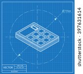 calculator isometric 3d... | Shutterstock .eps vector #397631614