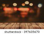 empty top of wooden table or... | Shutterstock . vector #397635670