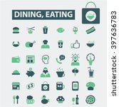 dining  eating icons  | Shutterstock .eps vector #397636783