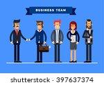business team vector concept... | Shutterstock .eps vector #397637374