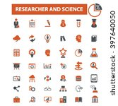 researcher and science icons  | Shutterstock .eps vector #397640050