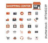 shopping center icons  | Shutterstock .eps vector #397640239