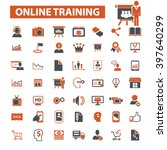 online training icons  | Shutterstock .eps vector #397640299