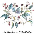 hand drawn watercolor... | Shutterstock . vector #397640464