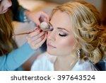 wedding makeup artist making a...   Shutterstock . vector #397643524