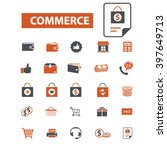 commerce icons  | Shutterstock .eps vector #397649713