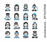 icon set occupation vector | Shutterstock .eps vector #397655908
