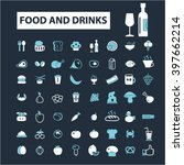 food and drinks icons  | Shutterstock .eps vector #397662214