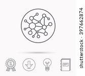 global network icon. social... | Shutterstock .eps vector #397662874