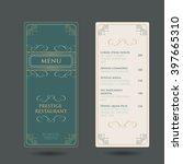 restaurant flourish cafe menu... | Shutterstock .eps vector #397665310