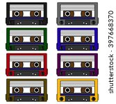 cassette tape   set of vector... | Shutterstock .eps vector #397668370