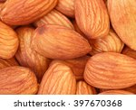 Macro Of Baked Almond Nuts
