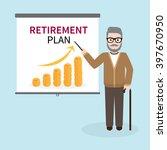 old hipster businessman giving... | Shutterstock .eps vector #397670950