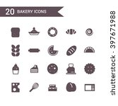 bakery icon set vector... | Shutterstock .eps vector #397671988