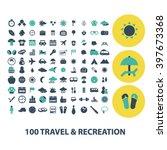 travel recreation icons | Shutterstock .eps vector #397673368
