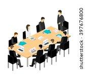 business meeting in an office... | Shutterstock . vector #397676800