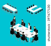 business meeting in an office... | Shutterstock . vector #397677130