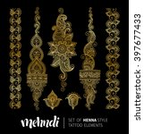 vector illustration of golden... | Shutterstock .eps vector #397677433