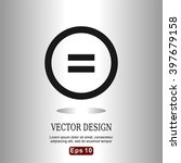 flat icons equality sign for... | Shutterstock .eps vector #397679158