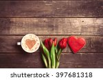 Bunch Of Red Tulips  Cookie An...