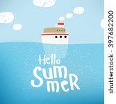 vector illustration of a ship... | Shutterstock .eps vector #397682200
