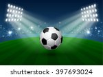 football sport poster with... | Shutterstock .eps vector #397693024