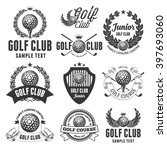 set of emblems  logos and... | Shutterstock .eps vector #397693060