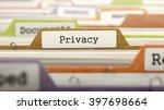 privacy concept on folder... | Shutterstock . vector #397698664