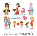 vector illustration of mother... | Shutterstock .eps vector #397699714