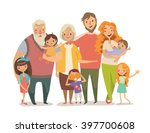 big family portrait. mother ... | Shutterstock . vector #397700608