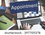 appointment activity schedule... | Shutterstock . vector #397705378