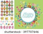 spring greeting card. phrase... | Shutterstock .eps vector #397707646
