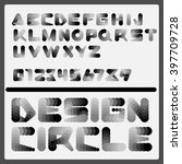 vector circle dotted font.  | Shutterstock .eps vector #397709728