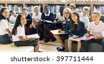 classmate educate friend... | Shutterstock . vector #397711444