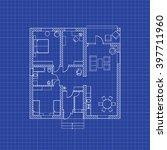 floor plan of a modern... | Shutterstock .eps vector #397711960