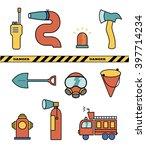 fire fighter elements set... | Shutterstock .eps vector #397714234
