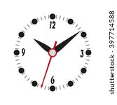 clock icon on a white... | Shutterstock .eps vector #397714588