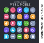 25 universal icons for web and... | Shutterstock .eps vector #397716040