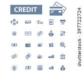credit icons  | Shutterstock .eps vector #397722724