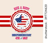 happy 4th july independence day | Shutterstock .eps vector #397724620